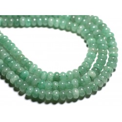 Fil 39cm 74pc env - Perles de Pierre - Aventurine Verte Rondelles 8x5mm