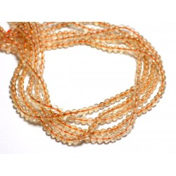 Fil 39cm - Perles de Pierre - Citrine Boules 4mm