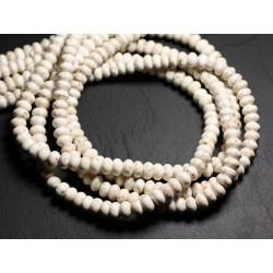 Fil 39cm 76pc env - Perles de Pierre - Magnésite Rondelles 9x5mm