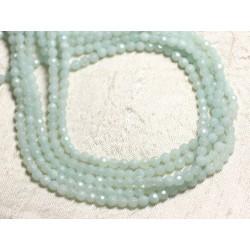 1 Fil 39cm Perles de Pierre - Amazonite Boules Facettées 4mm