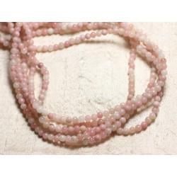 Fil 39cm 100pc env - Perles de Pierre - Opale Rose Boules 4mm