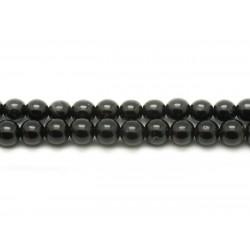 Fil 39cm 32pc env - Perles de Pierre - Tourmaline noire Boules 12mm