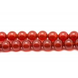 1 Fil 39cm Perles de Pierre - Cornaline Boules 14mm