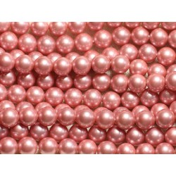 1 Fil 39cm - Perles de Nacre Boules 8mm Rose Incarnadin