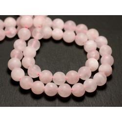 Aventurine Rose Boules 4mm 1 Fil 39cm Perles de Pierre