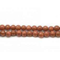1 Fil 39cm Perles de Pierre - Pierre de Soleil Synthèse Boules 6mm