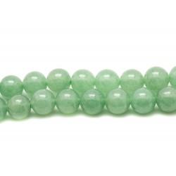 Fil 39cm 37pc env - Perles de Pierre - Aventurine Verte Boules 10mm