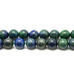 Fil 39cm 37pc env - Perles de Pierre - Chrysocolle Boules 10mm