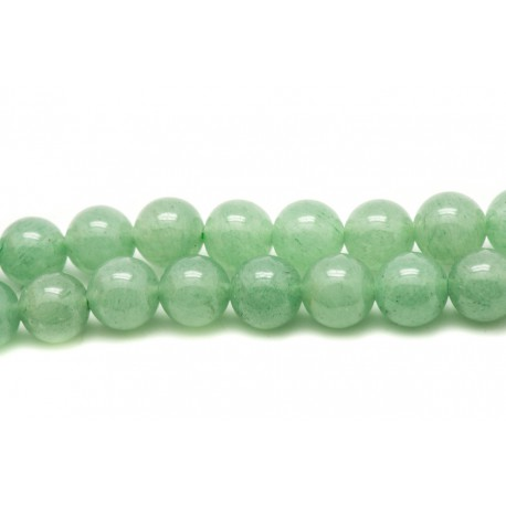 8741140008458 10pc Perles de Pierre Aventurine Bleue Galets roulés 9-12mm