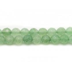 1 Fil 39cm Perles de Pierre - Aventurine Verte Boules Facettées 8mm