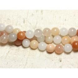 1 Fil 39cm Perles de Pierre - Aventurine Rose Boules 10mm