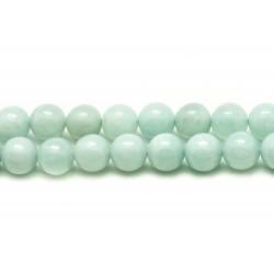 Fil 39cm 46pc - Perles de Pierre - Amazonite Boules 8mm