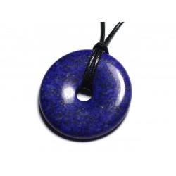 Collier Pendentif en Pierre - Lapis Lazuli Donut Pi 40mm
