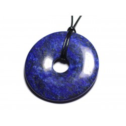 Collier Pendentif en Pierre - Lapis Lazuli Donut Pi 60mm