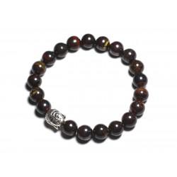 Bracelet Bouddha et Pierre semi précieuse - Oeil de Fer