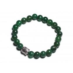 Bracelet Bouddha et Pierre semi précieuse - Aventurine vert foncé