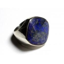 N223 - Bague Argent 925 et Pierre - Lapis Lazuli Losange Facetté