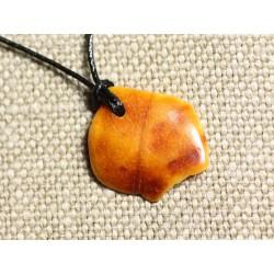 Collier Pendentif en Ambre naturelle 24mm N2