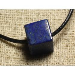 Collier Pendentif en Pierre - Lapis Lazuli Cube 15mm