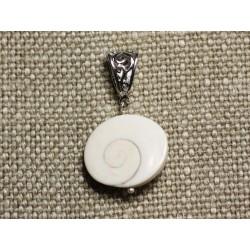 Collier Pendentif Coquillage - Oeil de Shiva Sainte Lucie Ovale 23mm