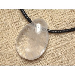 Collier Pierre - Cristal de Roche Quartz Goutte 25mm