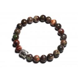 Bracelet Bouddha et Pierre semi précieuse - Opale verte