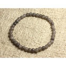 Bracelet Elastique Pierre semi précieuse - Jade Grise 4mm