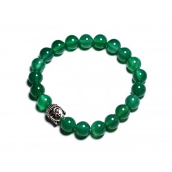 Bracelet Bouddha et Pierre semi précieuse - Onyx vert