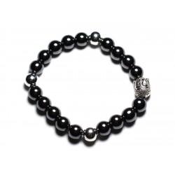 Bracelet Bouddha et Pierre semi précieuse - Hématite