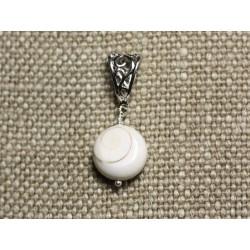 Collier Pendentif Coquillage - Oeil de Shiva Sainte Lucie Rond 15mm