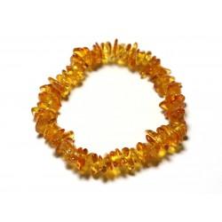 Bracelet Elastique Enfant - Ambre naturelle Chips 5-8mm Miel