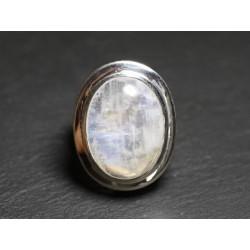 N117 - Bague Argent 925 et Pierre - Pierre de Lune Ovale 20x15mm