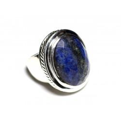 N117 - Bague Argent 925 et Lapis Lazuli Ovale facetté 20x15mm