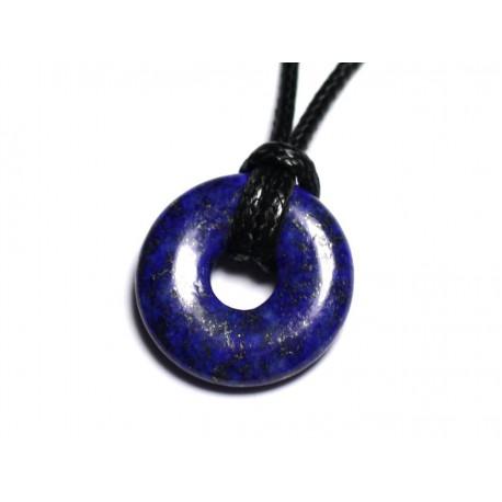 Collier Pendentif en Pierre - Lapis Lazuli Donut Pi 20mm