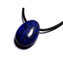 Collier Pendentif Pierre semi précieuse - Lapis Lazuli Goutte 25mm