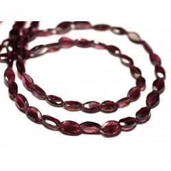 20pc - Perles de Pierre Grenat - Gouttes Triangles Facettées 5-6mm - 8741140025844