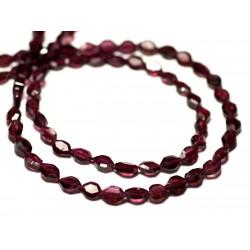 20pc - Perles de Pierre - Grenat Marquises Navettes Facettées 6-7mm - 8741140022591