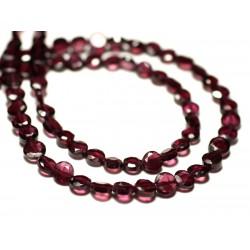 20pc - Perles de Pierre - Grenat Ovales Facettés 5-6mm - 8741140022621