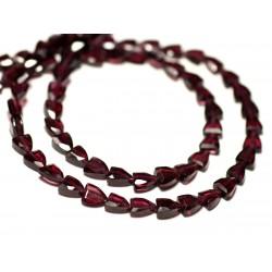 Fil 39cm 84pc env - Perles de Pierre - Grenat Palets Facettés 4-5mm