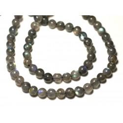20pc - Perles de Pierre - Labradorite Boules 5-6mm - 8741140022683