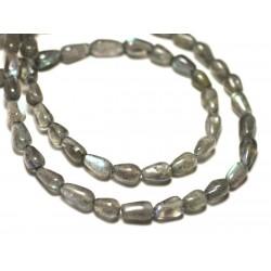 Fil 39cm 66pc env - Perles de Pierre - Labradorite Boules 6mm