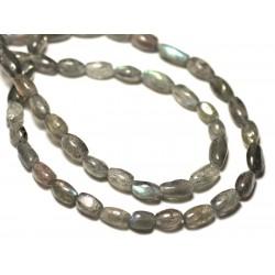 10pc - Perles de Pierre - Labradorite Gouttes 6-8mm - 8741140022706