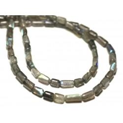 Fil 39cm 48-56pc env - Perles de Pierre - Labradorite Rectangles 5-12mm