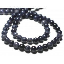 1pc - Perle de Pierre - Saphir Bleu Boule 6mm - 8741140029330
