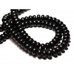 Fil 39cm 160pc env - Perles de Pierre Turquoise Synthèse Rondelles 4x2mm Vert