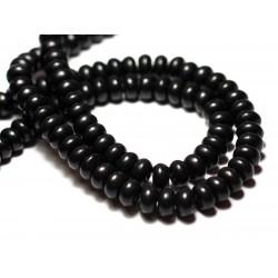 35pc - Perles de Pierre Turquoise Synthèse Rondelles 6x4mm Bleu Nuit - 7427039728072