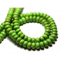 40pc - Perles de Pierre Turquoise Synthèse Rondelles 4x2mm Violet - 7427039728171