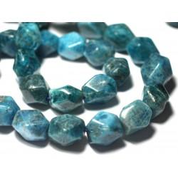 10pc - Perles de Pierre - Apatite Boules 6mm Bleu - 7427039727662