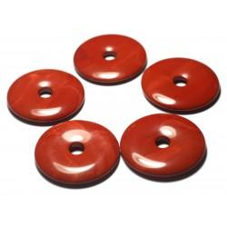 1pc - Pendentif Pierre semi précieuse - Jaspe Rouge Poppy Donut 30mm 4558550012791