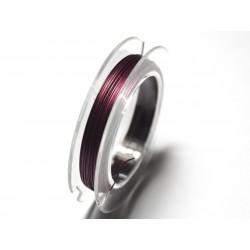1pc - Bobine 10 mètres - Fil Métal Cablé 0.35mm Violet Rose - 7427039729352